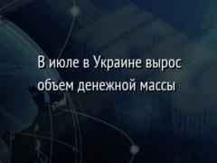 В июле в Украине вырос объем денежной массы