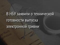 В НБУ заявили о технической готовности выпуска электронной гривни