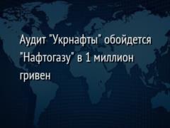 Аудит  Укрнафты  обойдется  Нафтогазу  в 1 миллион гривен