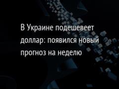 В Украине подешевеет доллар: появился новый прогноз на неделю