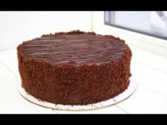 Очень шоколадный торт  Прага  за несколько минут