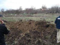 Боевики выпустили по селу Орловка минимум 5 снарядов