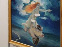 На выставке в России картины с обнажёнными женщинами заклеивали стикерами