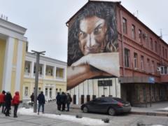 В Харькове отреставрировали мурал с Кузьмой Скрябиным