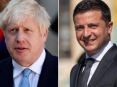 Зеленский рассказал британскому премьеру об обострении на Донбассе