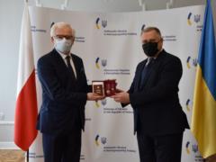 Экс-главе МИД Польши вручили украинский орден